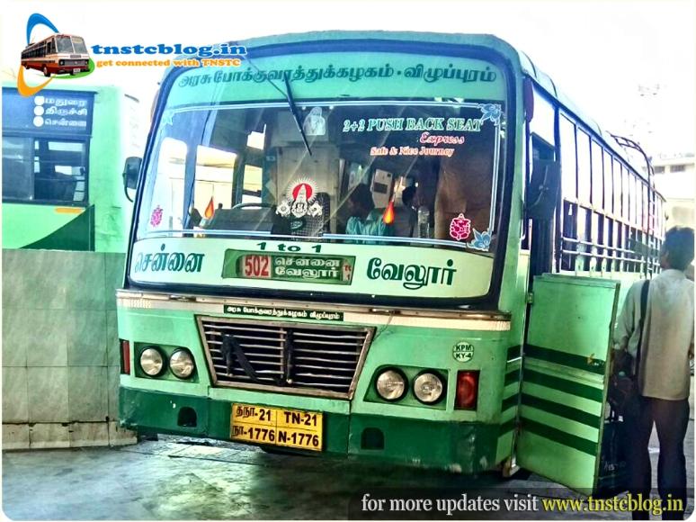 TN-21N-1776 of Koyambedu 4 Depot Route 502 SD Chennai - Vellore