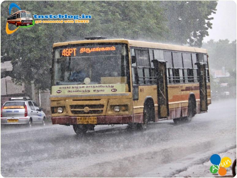 TN-58N-1661 of Thirumangalam Depot Route 48PT Thirumangalam - Periyar via Thirunagar, Thiruparamkundram, Pasumalai, Palangantham.
