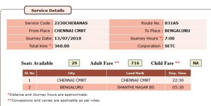 Chennai-Bangalore AC Sleeper